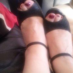 schwarze High Heels - klette54