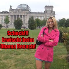 SCHOCK!!! Erwischt beim Obama Besuch! - aische-pervers