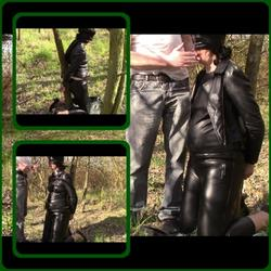 Blindfolded, handcuffed and smoking ciga - bondageangel