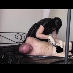 SlaveinhogtiepartTwoShavingcock - bondageangel