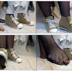 Schuhe Füße Netzstrumpfhose - xx50xx