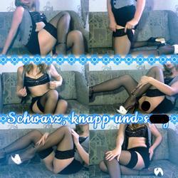 Schwarz, knapp und sexy - SexyClaudia4U