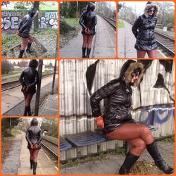 At the the train station - bondageangel