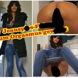 Jeanspiss-Fotze zum Orgasmus gewixxt - Samantha-Fuxx