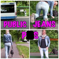 Public Jeans Piss an der Bushaltestelle - Lara-CumKitten