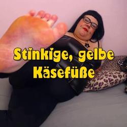 Stinkige, gelbe Käsefüße - scharfe-Kitty