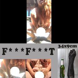 34x9cm FISTFAUST - blonde-stute