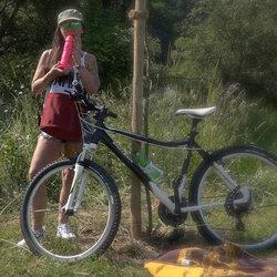 Fahrradtour - Votze bearbeitet... - saskia-farell