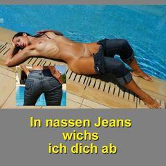 In nassen Jeans wichse ich Dich ab - Annabel-Massina