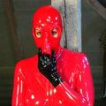Rote Latexmaske - Latexcult